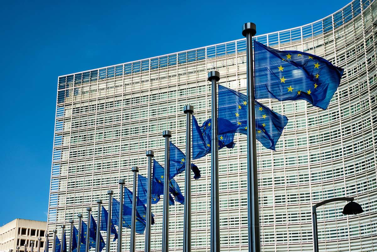 European-EU-flagsa-in-front-of-368320642